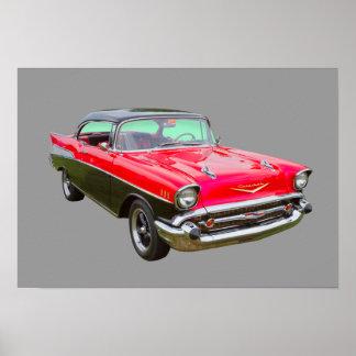 1957 Chevrolet Bel Air Classic Car Posters