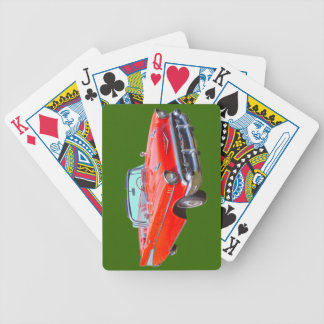 1957 Chevrolet Bel Air Convertible Antique Car Bicycle Playing Cards