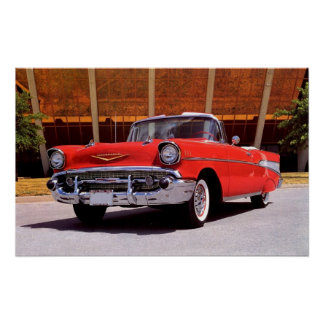 1957 Chevrolet Bel-Air Convertible Poster