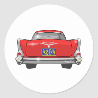 1957 Chevrolet Bel Air Pass Envy Classic Round Sticker
