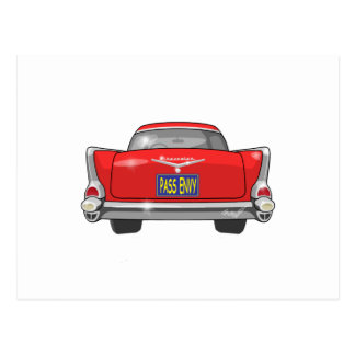 1957 Chevrolet Bel Air Pass Envy Postcard