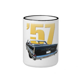 1957 Chevrolet Bel Aire Rear View Ringer Coffee Mug