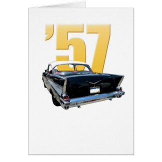 1957 Chevrolet Bel Aire Rear View note card