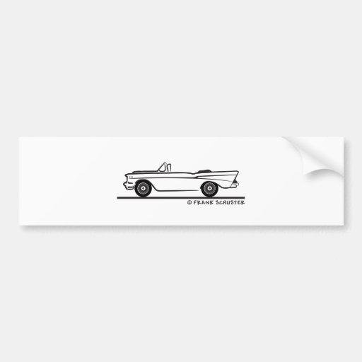 1957 Chevrolet Convertible 2-10 Bel Air Bumper Stickers