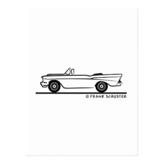 1957 Chevrolet Convertible 2-10 Bel Air Postcard