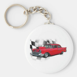 1957 Chevrolet Dragster Basic Round Button Keychain