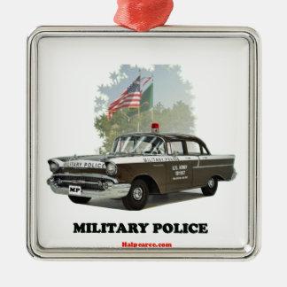 _1957 Chevrolet_Military_Police Adorno Cuadrado Plateado