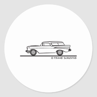 1957 Chevrolet Nomad Classic Round Sticker