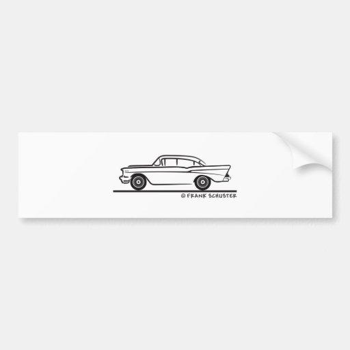 1957 Chevrolet Sedan Four Door 2-10 Bumper Sticker