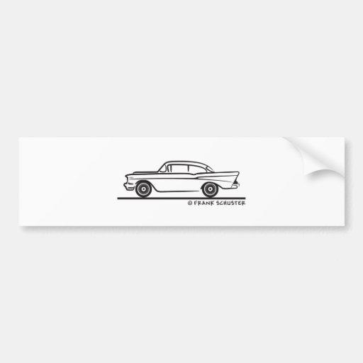 1957 Chevrolet Sedan Two Door 2-10 Bumper Stickers
