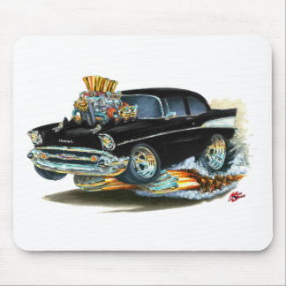 1957 Chevy 150-210 Black Car Mouse Pad