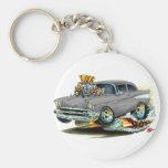 1957 Chevy 150-210 Grey Car Keychain