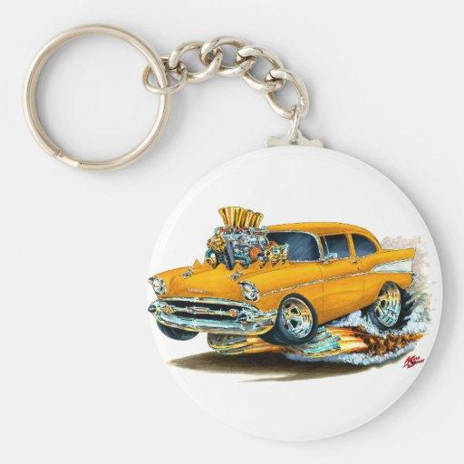 1957 Chevy 150-210 Orange Car Keychain