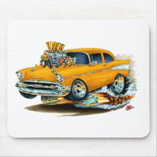 1957 Chevy 150-210 Orange Car Mouse Pad