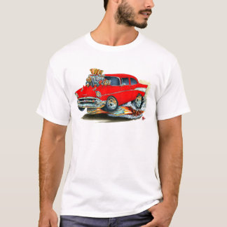 1957 Chevy 150-210 Red Car T-Shirt