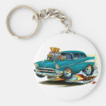 1957 Chevy 150-210 Teal Car Keychain