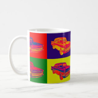 1957 Chevy Bel Air Car Pop Art Coffee Mug
