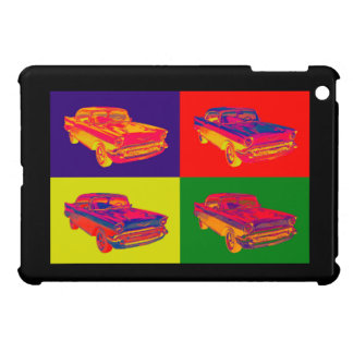 1957 Chevy Bel Air Car Pop Art Cover For The iPad Mini