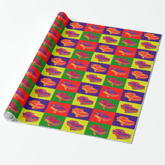 1957 Chevy Bel Air Car Pop Art Wrapping Paper