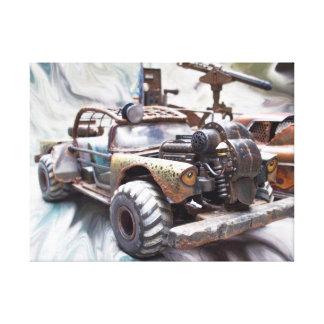 1957 Chevy Bel Air, Classic Apocalptic Rat Rod Car Canvas Print