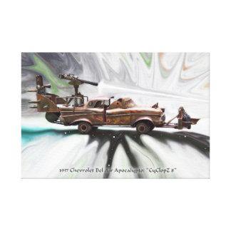 1957 Chevy Bel Air, Classic, junk Post Apocalypse Canvas Print