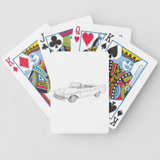 1957 Chevy Bel Air convertible Bicycle Playing Cards