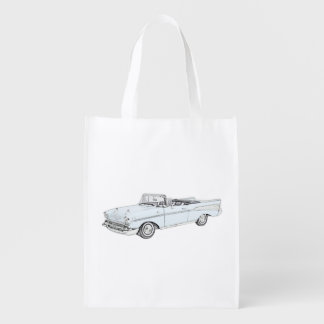 1957 Chevy Bel Air Convertible Grocery Bag