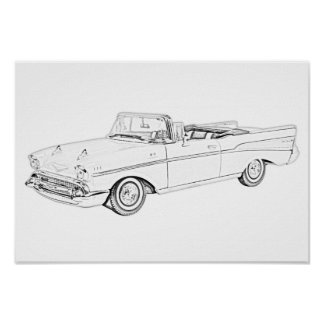 1957 Chevy Bel Air Convertible Poster