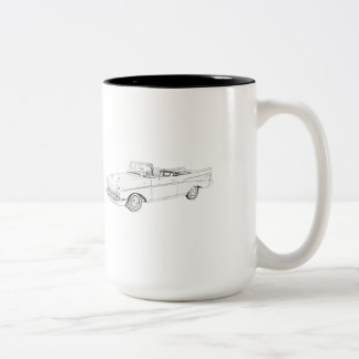 1957 Chevy Bel Air convertible Two-Tone Coffee Mug