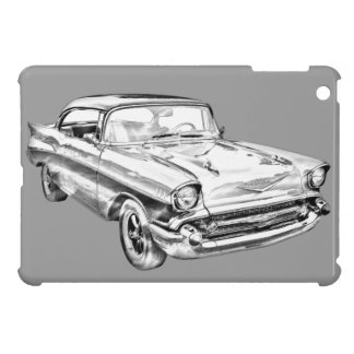 1957 Chevy Bel Air Illustration Case For The iPad Mini