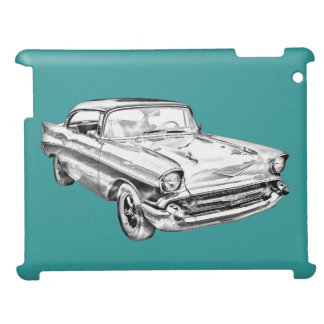 1957 Chevy Bel Air Illustration Cover For The iPad 2 3 4