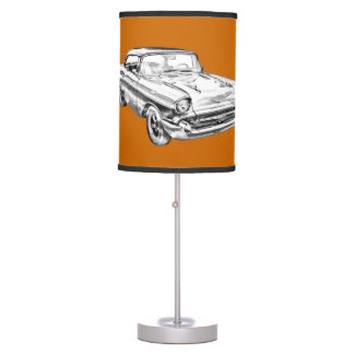 1957 Chevy Bel Air Illustration Desk Lamp