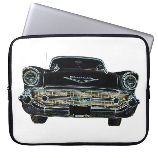 1957 Chevy Bel Air Laptop Sleeve 15 Inch