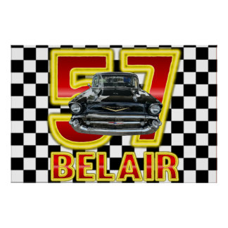 1957 Chevy Bel Air Poster. Poster