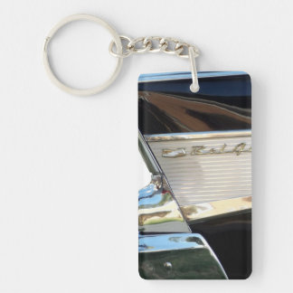 1957 Chevy Bel Air - Tail Fin - Keychain Rectangular Acrylic Key Chains