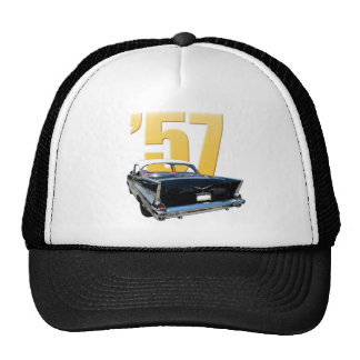 1957 Chevy Bel Aire Rear View Cap Trucker Hat