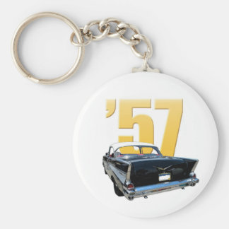 1957 Chevy Bel Aire Rear View Keychain