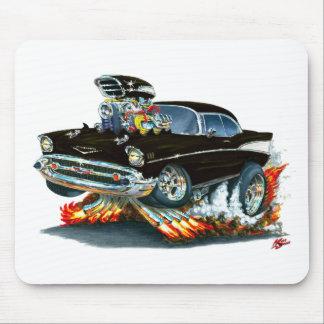1957 Chevy Belair Black Car Mouse Pad