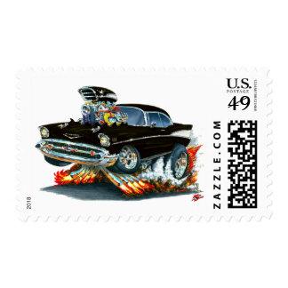 1957 Chevy Belair Black Car Postage Stamp