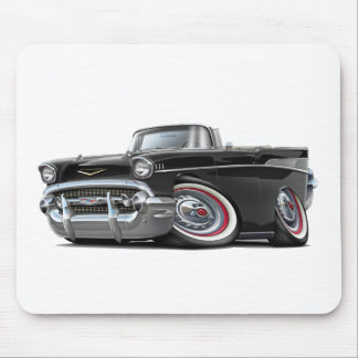 1957 Chevy Belair Black Convertible Mouse Pad