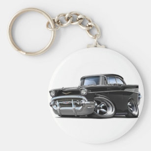 1957 Chevy Bel Air Keychain Key Ring and chain chrome