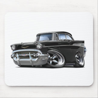 1957 Chevy Belair Black Hot Rod Mouse Pad