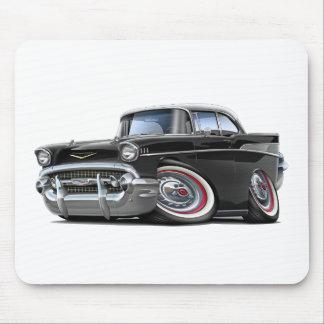 1957 Chevy Belair Black-White Car Mouse Pad