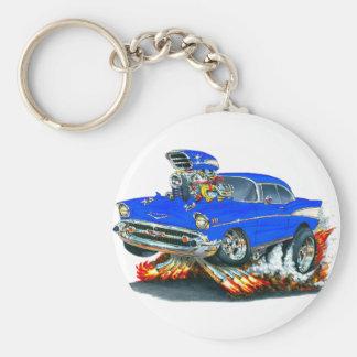 1957 Chevy Belair Blue Car Keychain
