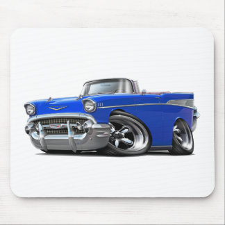 1957 Chevy Belair Blue Convertible Hot Rod Mouse Pad