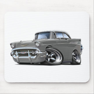 1957 Chevy Belair Grey-White Hot Rod Mouse Pad
