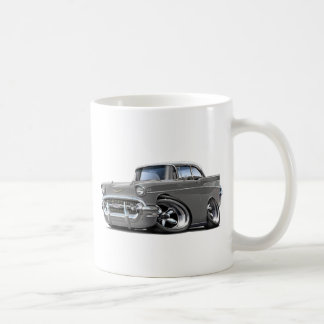 1957 Chevy Belair Grey-White Hot Rod Coffee Mugs