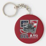 1957 Chevy Belair Keychain. Basic Round Button Keychain