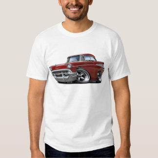 1957 Chevy Belair Maroon Hot Rod Shirt