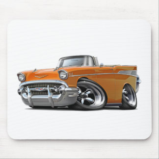 1957 Chevy Belair Orange Convertible Hot Rod Mouse Pad